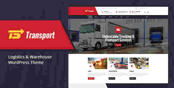 قالب شرکت مسافربری حمل نقل ترانسپورت RTL وردپرس