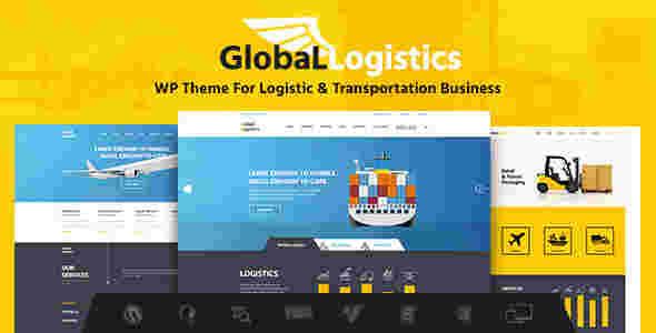 قالب سایت شرکت حمل نقل ترانزیت گلوبال لاجستیک وردپرس