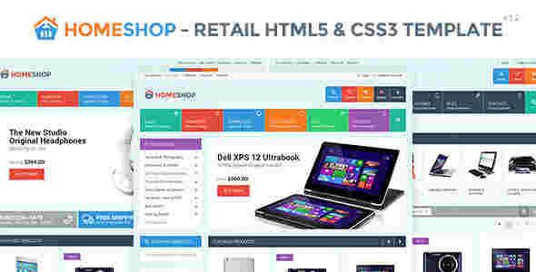 قالب فروشگاهی هوم شاپ html