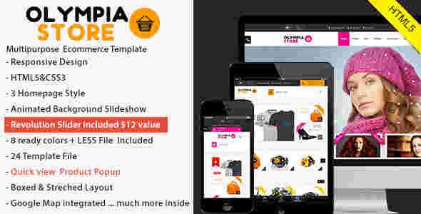 قالب فروشگاهی محصولات اولمپیا html