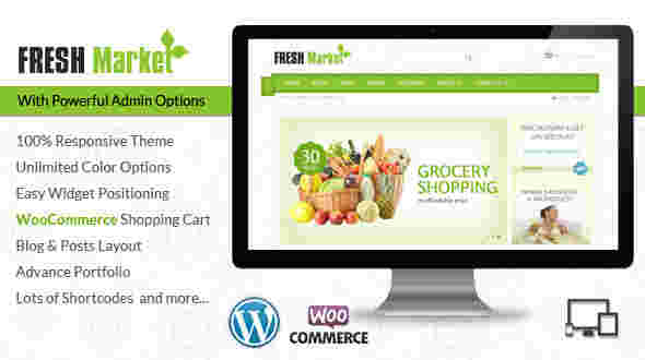 قالب سایت فروش میوه تربار مارکت وردپرس