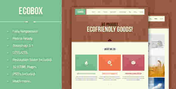 قالب شرکتی وبلاگی اکو باکس html