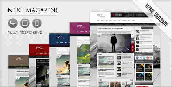 قالب مجله خبری نکس مگزین html