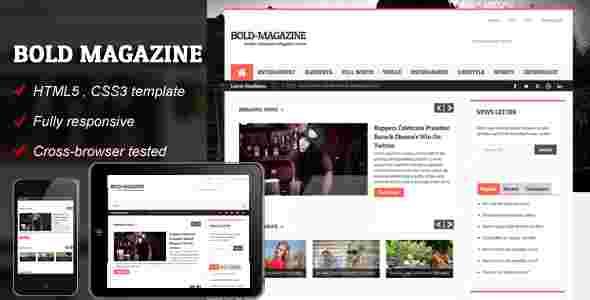 قالب مجله خبری وبلاگ نویسی بولد مگزین html