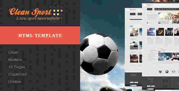 قالب وبلاگ نویسی ورزشی کلین اسپورت html
