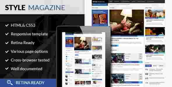 قالب مجله خبری وبلاگ نویسی استایل مگزین وردپرس