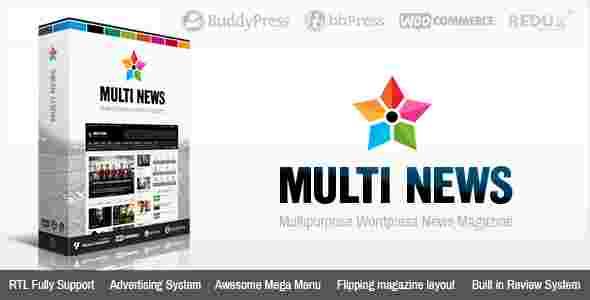 قالب سایت خبری مولتی نیوز RTL وردپرس