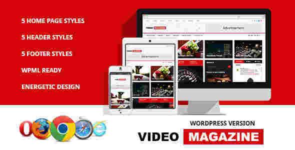 قالب سایت مجله فیلم ویدئو RTL وردپرس