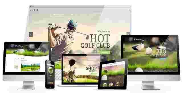 قالب سایت کلوپ گلف همراه فروشگاه محصولات جوملا