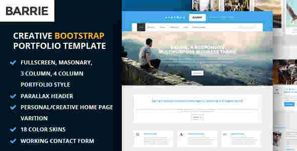 قالب چند منظوره تجاری وبلاگی باریه html