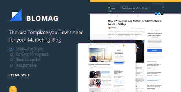 قالب ساده وبلاگ نویسی بلاگ مگ html