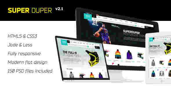 قالب فروشگاهی وبلاگی سوپر داپر html