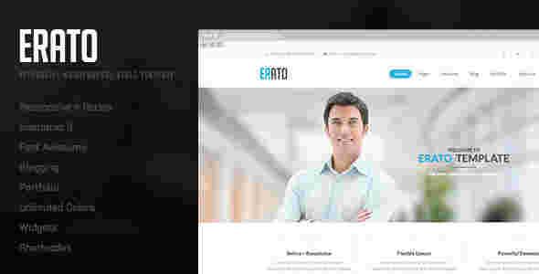 قالب شرکتی تجاری وبلاگی اریتو html