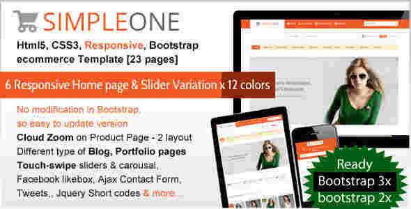 قالب فروشگاهی زیبا سیمپل وان html