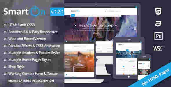 قالب شرکتی تجاری فروشگاهی وبلاگی اسمارت ان html