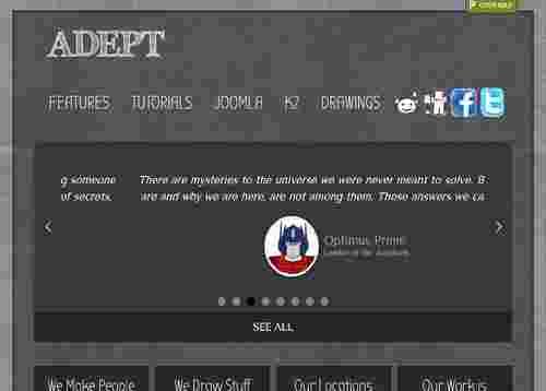 قالب سایت شخصی نقاشی آداپت جوملا 2.5 تا 3