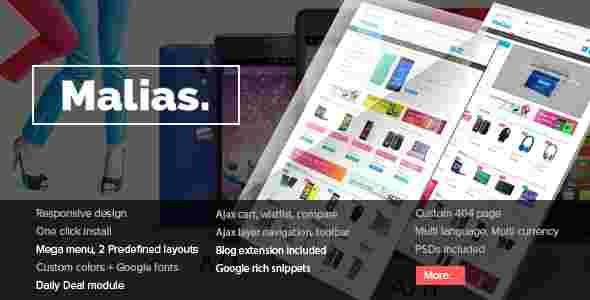 قالب فروشگاهی مالیاس RTL پرستا شاپ