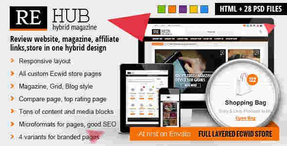 قالب مجله وبلاگ نویسی ری هاب html