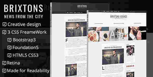 قالب وبلاگ شخصی بریکستون html