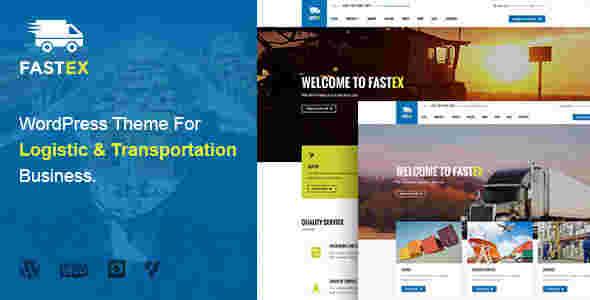 قالب وردپرس شرکت حمل نقل باربری RTL  فست ایکس