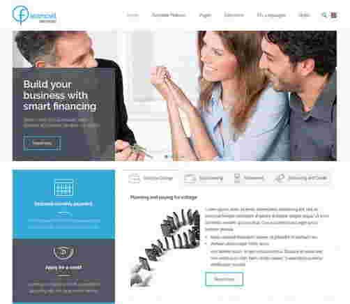 قالب شرکت حسابداری سرویس جوملا 3