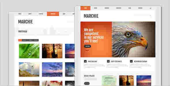 قالب شرکتی وبلاگ نویسی مارچی html