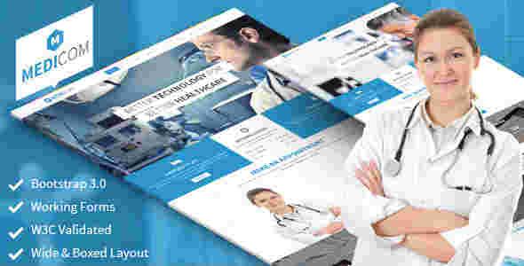 قالب مطلب تخصصی پزشک مدیکام html