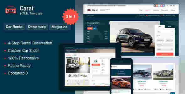 قالب سایت بنگاه خرید فروش ماشین خودرو کارت html