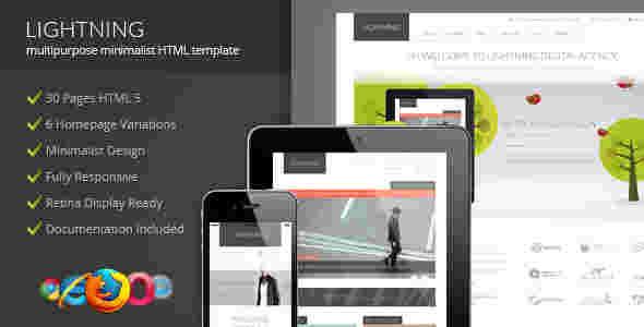 قالب شرکتی وبلاگ نویسی فروشگاهی لایتینیگ html