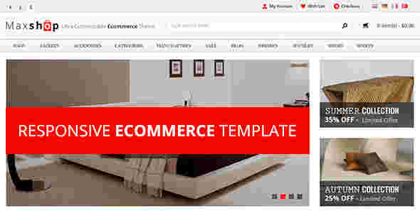 قالب فروشگاهی مکس شاپ html