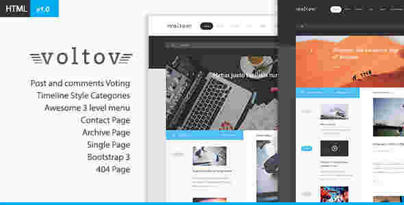قالب زیبای وبلاگ نویسی ولتو html5