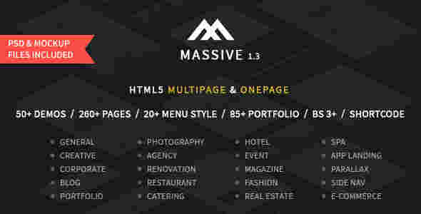 44 قالب شرکتی وبلاگ نویسی ماسیو html