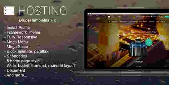 قالب مولتی حرفه ای هاستینگ فروشگاه هاست دامنه RTL دروپال