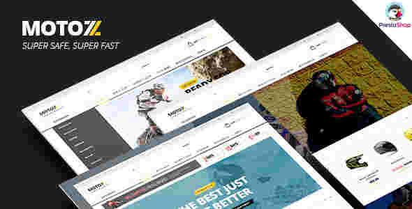 قالب سایت فروشگاه لوازم موتور سیکلت دوچرخه RTL لئوموتو پرستاشاپ