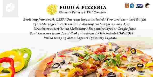 قالب سایت فروش پیتزا html