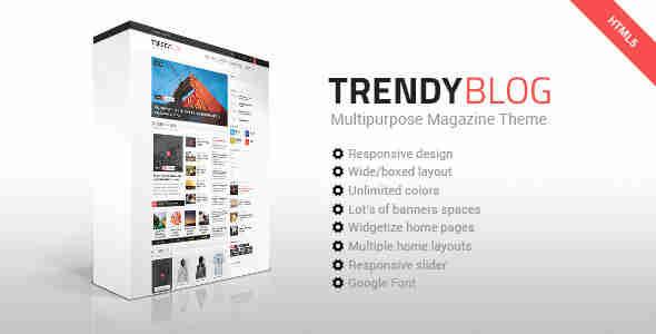 قالب مجله وبلاگ نویسی ترندی HTML