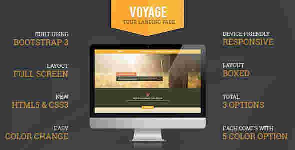 قالب تک صفحه ای آژانس تور مسافرتی توریسم HTML