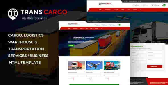 قالب شرکت ترابری حمل نقل ترنس کار html