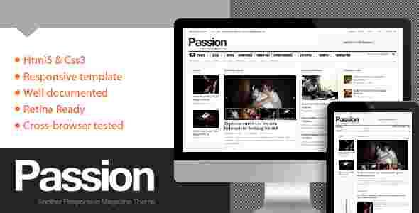 قالب سایت مجله وبلاگ نویسی پاسیون HTML