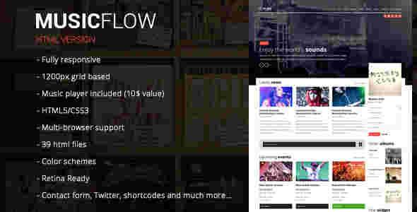 قالب سایت مجله وبلاگ موزیک دانلود آهنگ فالو HTML