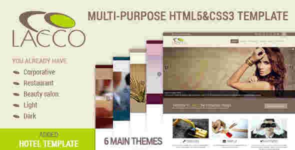 قالب چند منظوره شرکتی لاکو html