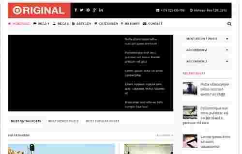 قالب مجله خبری وبلاگ نویسی اورچینال html