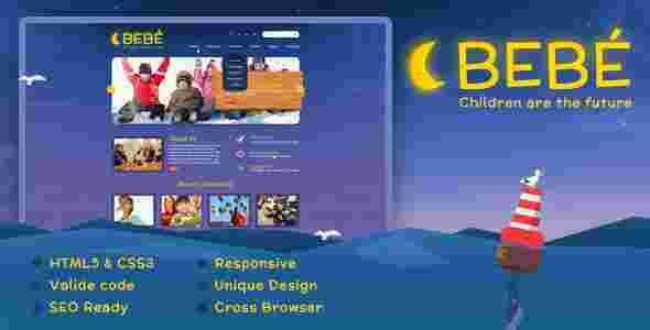 قالب چند منظوره گرافیکی اختصاصی کودکان html