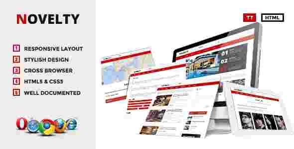قالب مجله وبلاگ نویسی نولتی html