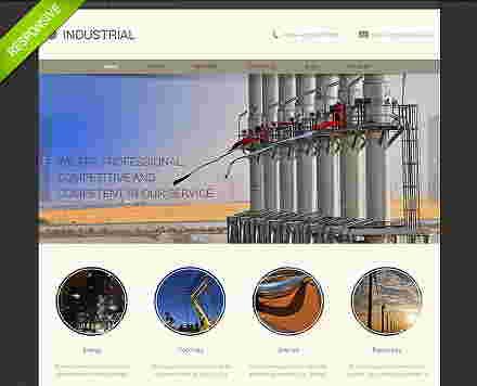 قالب شرکتی پیمانکاری نیروگاه صنعتی html