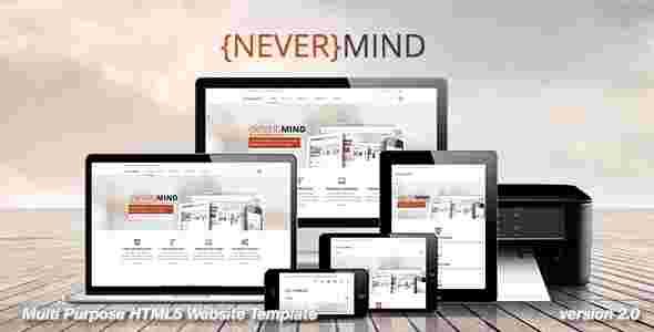 قالب شرکتی وبلاگ نویسی نور مایند html