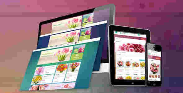 قالب سایت فروشگاه گل فروشی اوپن کارت RTL پاو فلورال