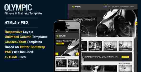 قالب سایت ورزش بدنسازی پرورش اندام html