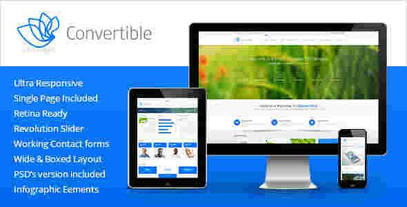 قالب شرکتی تجاری وبلاگ نویسی کانورت ایبل html