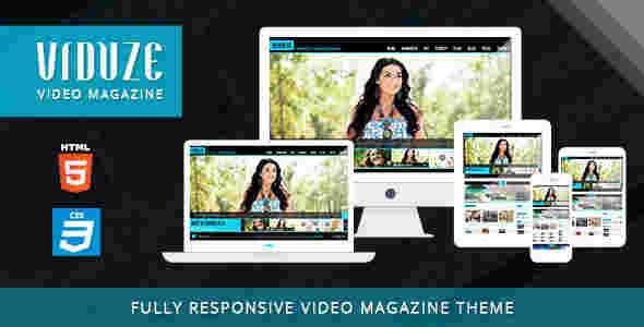 قالب سایت مجله وبلاگ نویسی ویدئو فیلم html
